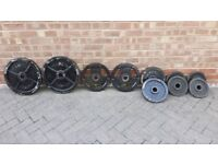 110KG OLYMPIC WEIGHTS PLATE SET * * B A R G A I N * *