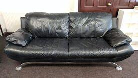 Stylish black 3 seater sofa