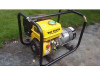 Wolf petrol generator 6.5 hp 2200 watt