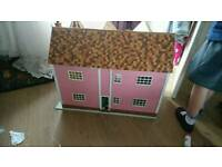 Antique wooden dolls house