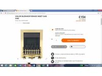 VALOR BLENHEIM BRASS INSET GAS FIRE