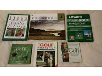 Six Golf Books.