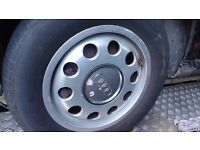 AUDI A3 Alloy Wheels with good tyres. 195/65/15 91H