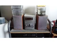 Sony CD and Cassette Player with speakers (nice and loud)