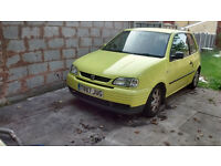 seat arosa 1.4 8v for sale.new shocks and springs all round.recent mot very reliable