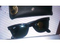 Rayban wayfarer tortoise shell ,black lenses, BRAND NEW.