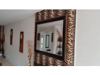 Wood frame large mirror from TKmax very clean