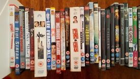 A collection of assorted DVDs