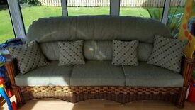 Beautiful 7 piece suite, reupholstered last year