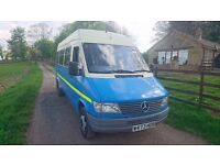 mercedez sprinter campervan, AUTOMATIC , full mot only £3995 may part ex