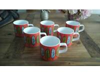 Six Habitat Freda Mugs, Brand New With Labels!