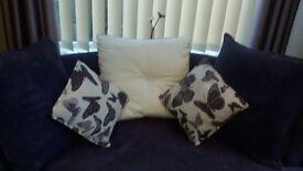 Cuddle Sofa. Deep Purple. As New.