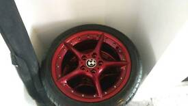 """BMW z4 18"""" BBS 2 piece wheels and tyres"""