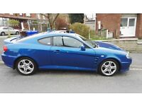 QUICK SALE BLUE HYUNDAI COUPE 2.0 SE BARGAIN PRICE SPORTS CAR FULL LEATHER INTERIOR 80K FSH