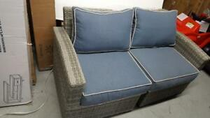 Elba 11C101A-W-LS+RS/SBLU Wicker Left & Right Arm Sofa (New other)