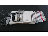 Nintendo Wii,10 games,2 controllers,Wii fit board