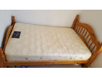 4 foot Wooden Bed Frame with Mattress
