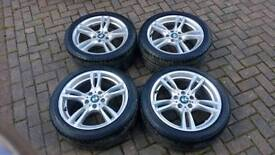 GENUINE BMW 18 INCH NEW STYLE 400M STAGGERED ALLOY WHEELS 5x120 F30 E90 3 SERIES E92