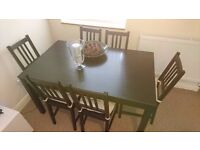 Dining Table from Ikea in excellent condition including six chairs