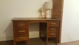 classic solid wood work desk, great character deep drawers. delivery service available.