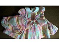 baby girl frilly dress / easter bundle: ralph lauren j junior next fur coat newborn - 3 month
