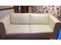 BoConcept Cream Leather Sofa