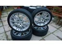 Bmw 3 series alloy wheels mv3's 18 inch m sport