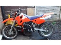 KTM 400 RXC LC4. swap for car will take part ex. cheap car. off road. KTM. KX450 CRF450. 125CC 250CC