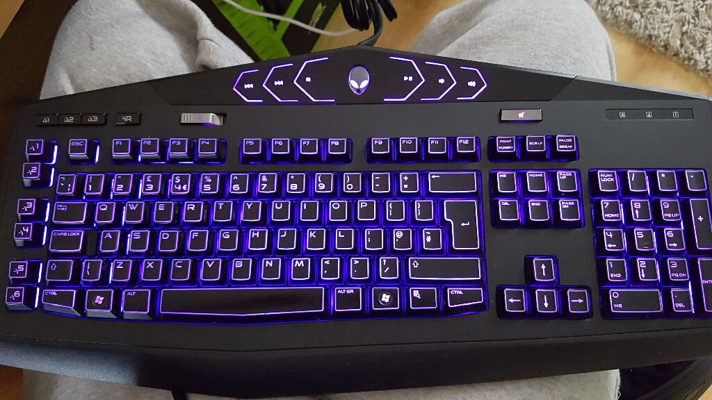 Dell Alienware Tactx Kg900 Backlit Gaming Keyboard In