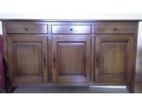 NOW SOLD..Large Solid French Oak Sideboard