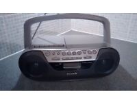 Sony CD, radio and cassette player