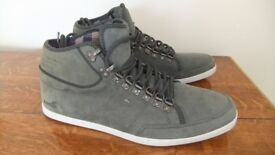 Boxfresh Milford hi-top leather trainers, size 11, new