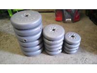 weight plates:6x4.5kg, 5x2.3kg, 4x1.1kg