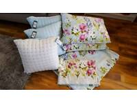 new lovely single bed set with goose down cushions