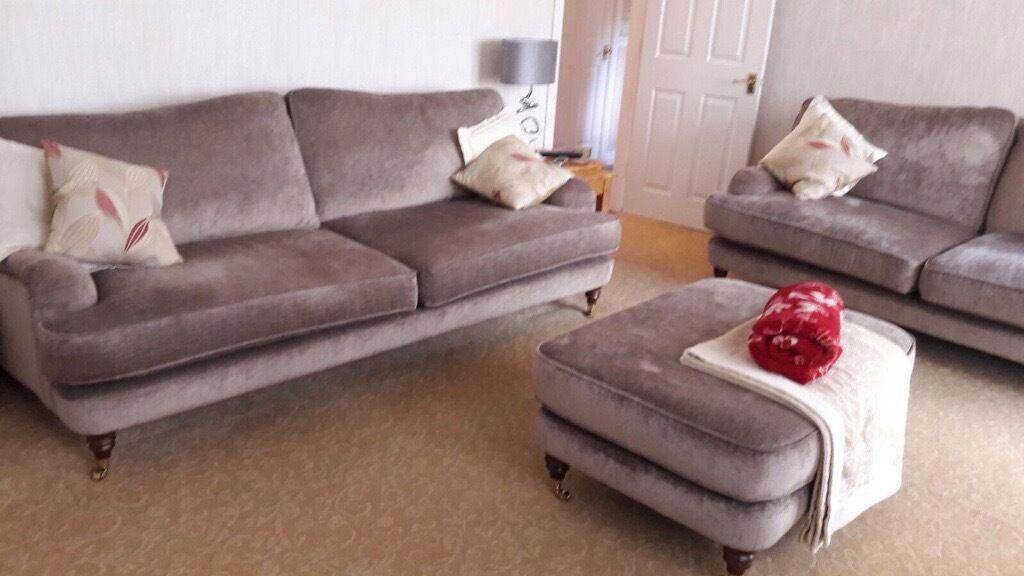 Laura ashley lynden fabric grande sofa large sofa for Sofas grandes y comodos