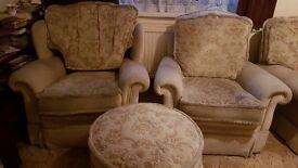 Four piece settee set