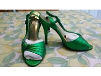 Electric green party shoes