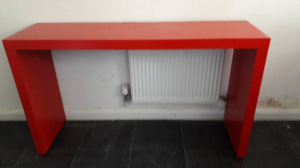 Ikea Red Malm Console Over Single Bed Table With Wheels In Bromley