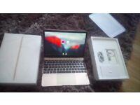 12inch gold macbook 256gb model A1534 (05/16)