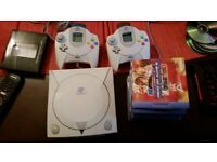 Sega dreamcast with games