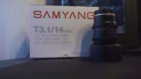 Samyang 14mm T3.1 Cine Lens
