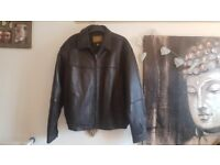 Boston Harbour Leather Jacket Large brand new