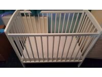 Baby Space saver cot white