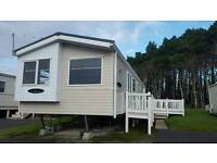 Decking included with this homely static caravan - Sundrum Castle Holiday Park