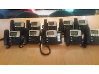 10x Digium D40/D50 VOIP handset -HD audio, PoE, SIP/Asterisk/Switchvox including stand - nearly new