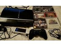 Ps3 8 games and psp with wireless joypad