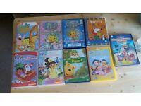 Kids DVD Fifi, Winnie the pooh, Dora, Mickey Mouse, sponge Bob
