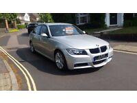 2007 BMW 320D M SPORT 5 DOOR SALOON SILVER FULL SERVICE HISTORY 12 MONTHS MOT 2 KEYS
