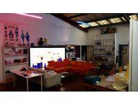 DOUBLE MEZZANINE ROOM IN ARTISTS LIVE-WORK STUDIO WAREHOUSE. MANOR HOUSE