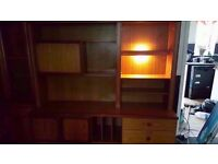 big wooden display unit with a light in good condition
